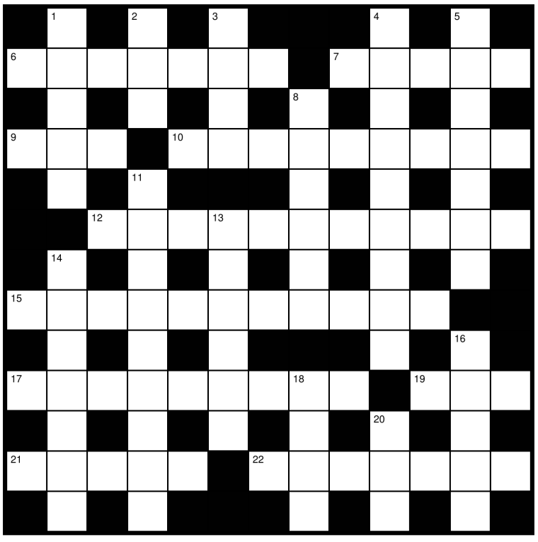 Cryptic crossword grid
